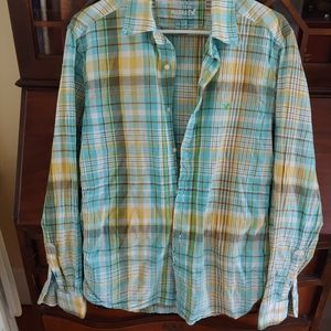American Eagle Madras Vintage fit LS Shirt
